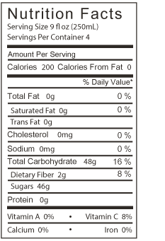 lemonade nutrition facts
